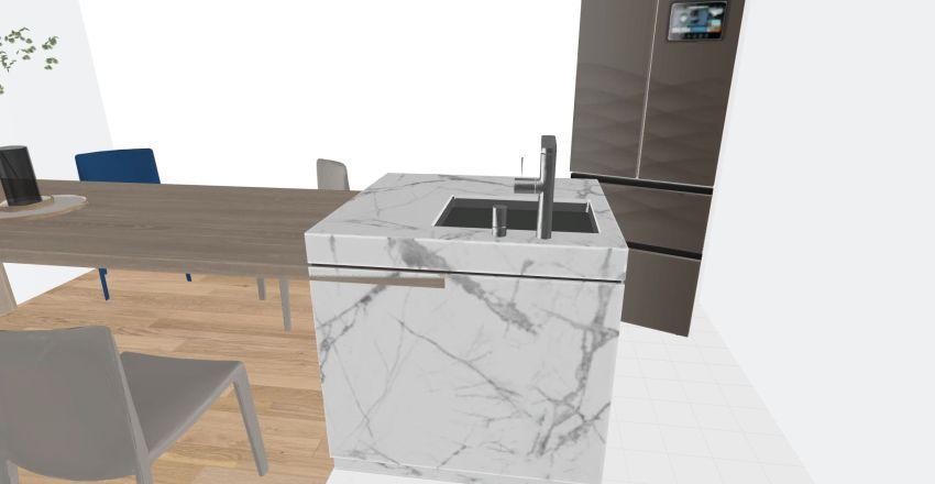 Quans tiny house Interior Design Render