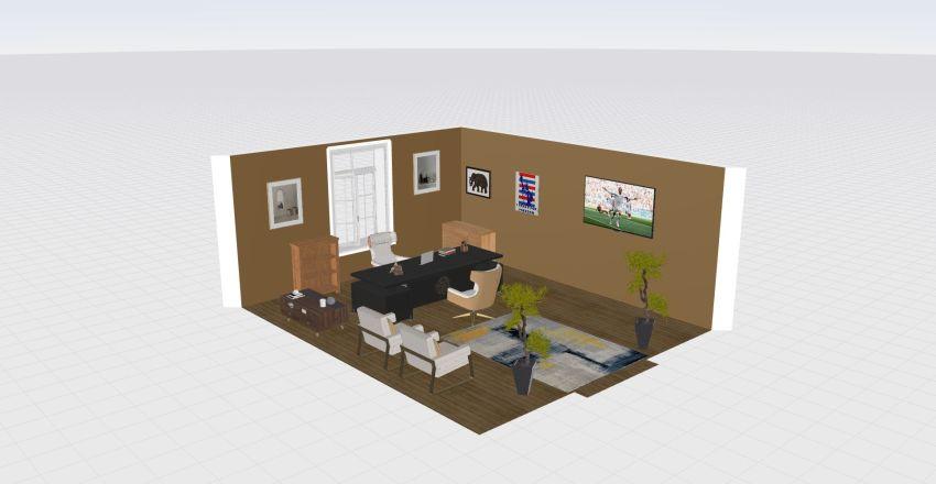 Despacho Contable Interior Design Render