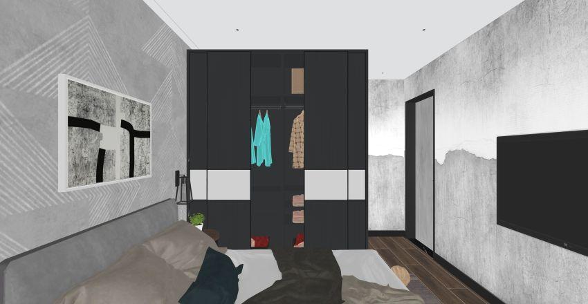 Retro Industrновая ial Interior Design Render