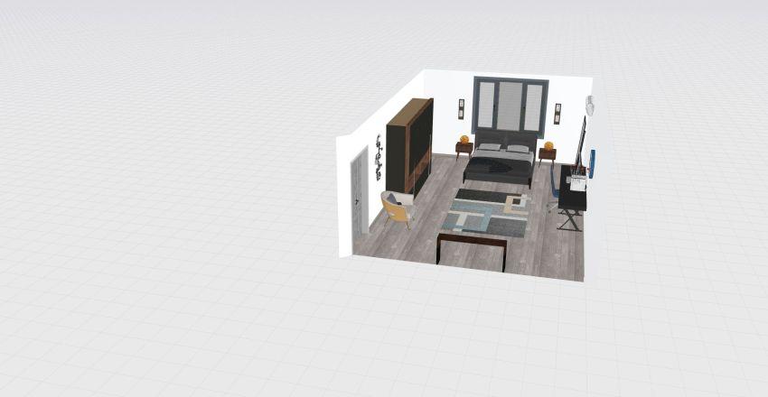 Habitación del Bot Interior Design Render